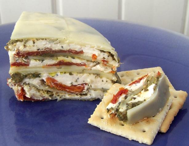 Italian Sun-Dried Tomato, Provolone and Pesto Torte. Photo by Proud Veteran&#39;s wife