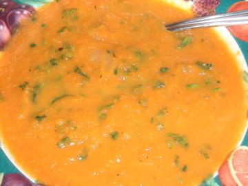 Spicy Carrot Soup. Photo by Leggy Peggy