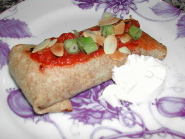 Vegetarian Baked Chimichangas. Photo by Kumquat the Cat&#39;s friend