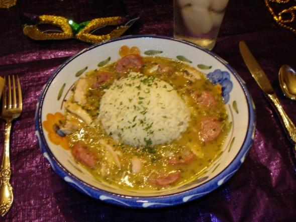 Mardi Gras Chicken and Sausage Gumbo. Photo by Kim D.