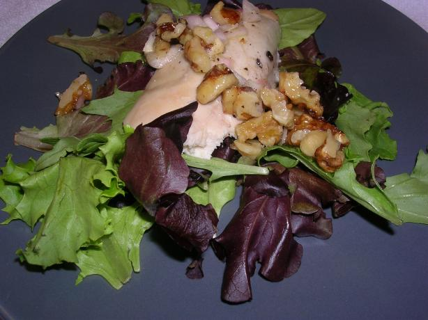 Roast Garlic Chicken and Walnut Salad. Photo by Samantha in Ut