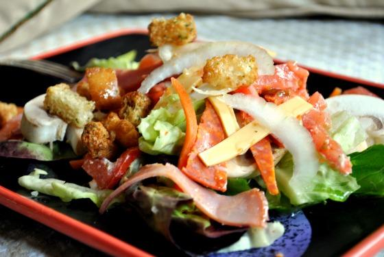 Italian Chef Salad Bread Bowl. Photo by Andi of Longmeadow Farm