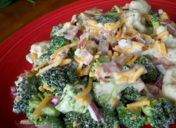 Broccoli and Cauliflower Salad My Way. Photo by *Parsley*