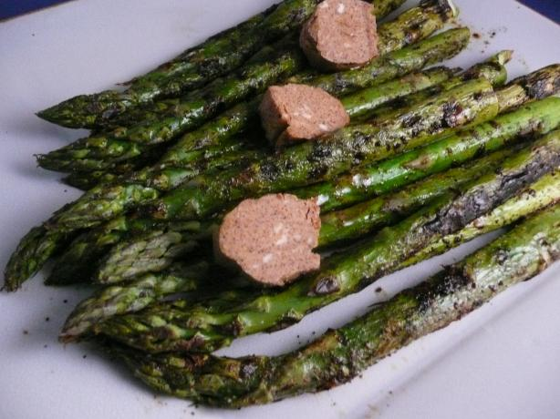 Grilled Asparagus With Barbecue Butter. Photo by cookiedog