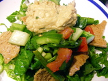 Fattoush Bread Salad With Hummus