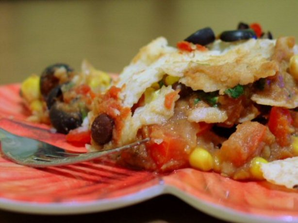 Mexican Lasagna Casserole (Vegan). Photo by A.B. Hall
