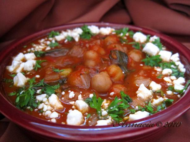 Greek Garbanzo Stew. Photo by Annacia