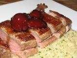 Spiced Balsamic Duck With Plums and Couscous