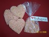 Valentine's Day Krispie Treat Hearts. Recipe by **Tinkerbell**