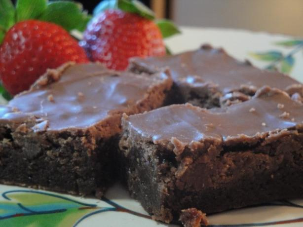 Easy Milk Chocolate Frosting for Brownies. Photo by Muffin Goddess