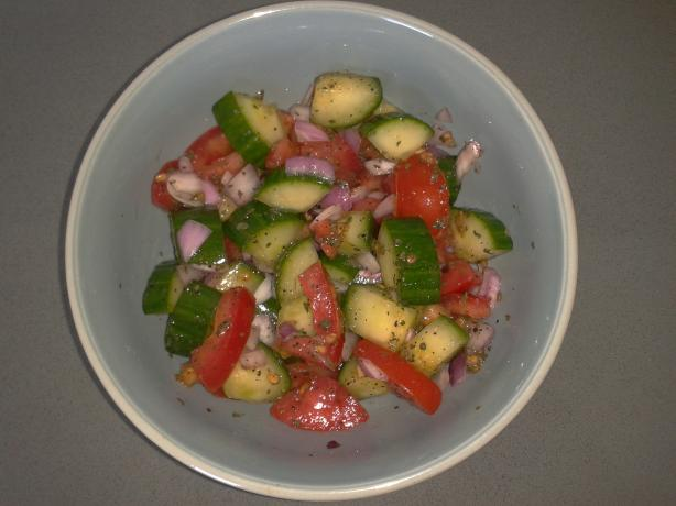 Healthy Cucumber-Tomato Salad. Photo by sxp082