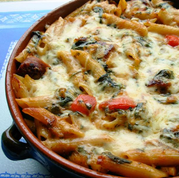 Make Ahead Italian Sausage and Pasta Bake. Photo by French Tart