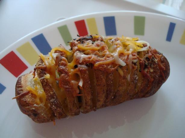 Sliced Baked Potatoes. Photo by Starrynews