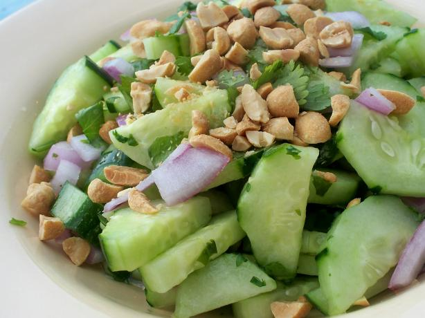 Thai Sweet-And-Sour Cucumber Salad. Photo by *Parsley*