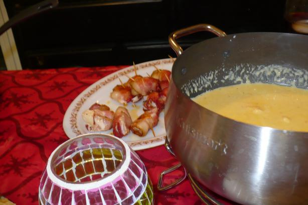 Cheddar Cheese Fondue (Courtesy of the Melting Pot). Photo by megs_