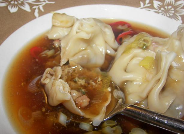Chili-Spiced Shrimp Wonton Soup. Photo by Baby Kato