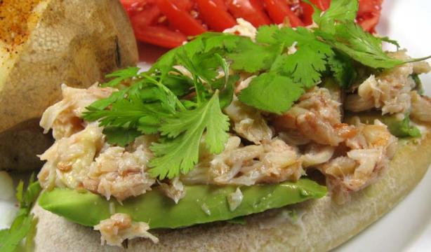 Thai -Style Open Crab Meat Sandwich. Photo by dianegrapegrower
