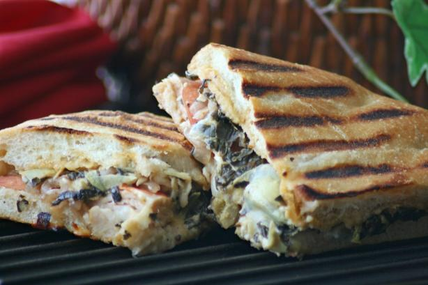 Panera Bread's Turkey Artichoke Panini. Photo by Wildflour