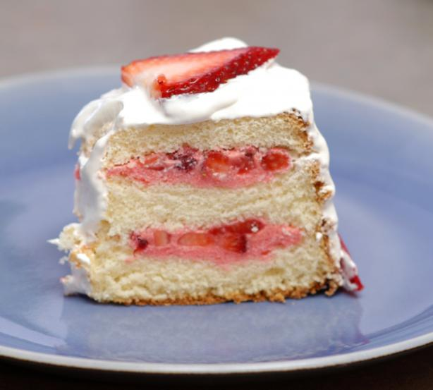 Strawberry Sunshine Cake. Photo by Proud Veteran's wife