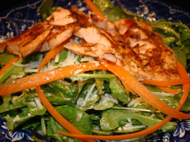 Salmon and Arugula Salad With Dijon Vinaigrette. Photo by Vicki in CT