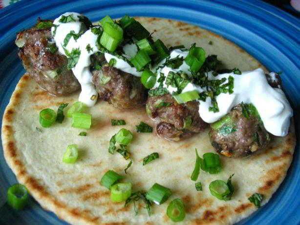 Lamb Meatball Gyros With Yogurt and Mint - Real Simple Mag -. Photo by flower7