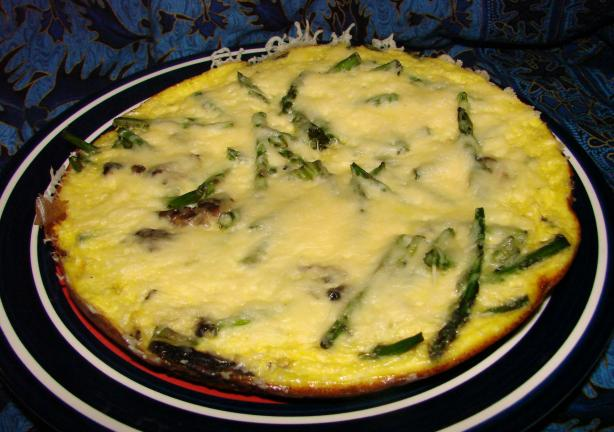 Emmentaler and Asparagus Frittata. Photo by Boomette