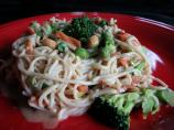 Fast and Simple Veggieful Peanut Pasta for Two