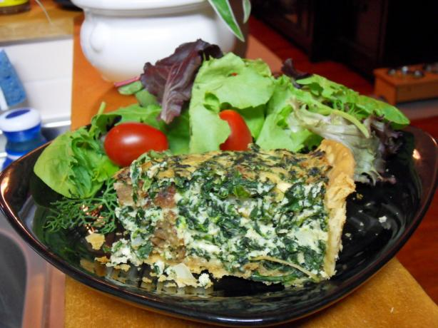 Spinach and Ricotta Tart. Photo by Jackshoe