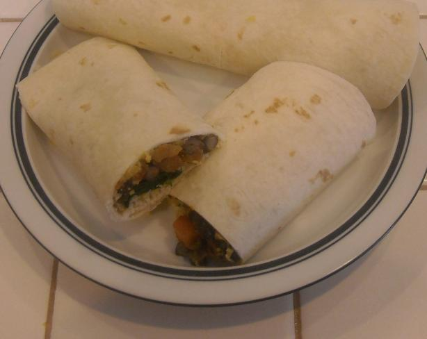 Black Bean and Avocado Wrap. Photo by NorthwestGal