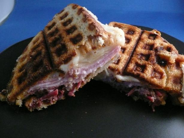 Waffle Iron Reuben Sandwich - Emeril Lagasse. Photo by cookiedog