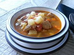 Goulash Soup - Pork or Lamb  (J&uacute;hus Vagy Diszno Gulyas). Photo by Chef Czegeny