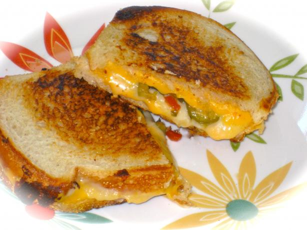 My Husband's Favorite Grilled Cheese & Green Olive Sandwich. Photo by FrenchBunny