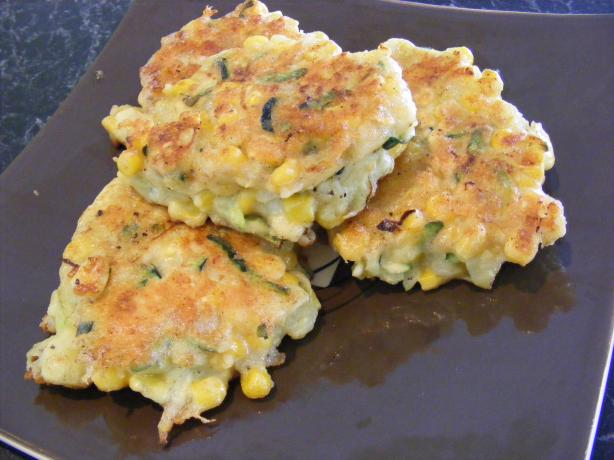 Zucchini &amp; Corn Fritters. Photo by Sara 76
