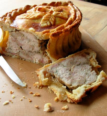 Raised Chicken and Ham Pie