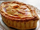 Old English Posh Picnic Raised Chicken and Ham Pie