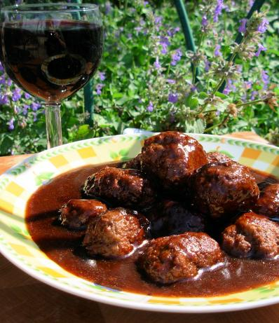 Meatballs in Merlot. Photo by French Tart