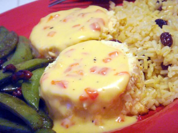 Salmon Cups With Cheese Sauce. Photo by Lori Mama