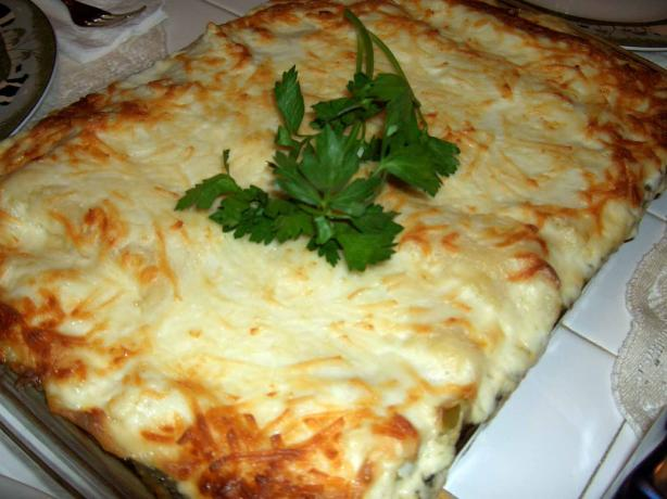 Vegetable Bechamel Lasagne. Photo by mersaydees