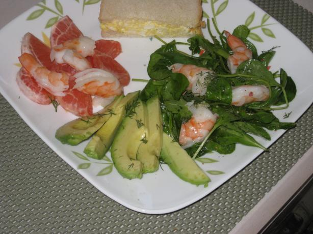 Avocado, Prawn / Shrimp & Pink Grapefruit Salad - for Two 2. Photo by FrenchBunny