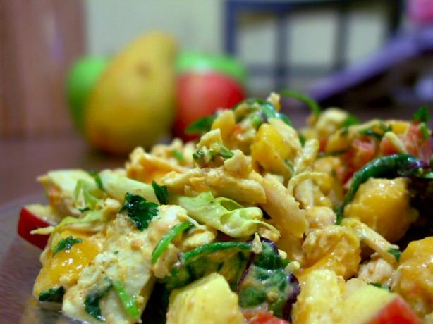 Apple & Mango Curried Chicken Salad. Photo by A.B. Hall