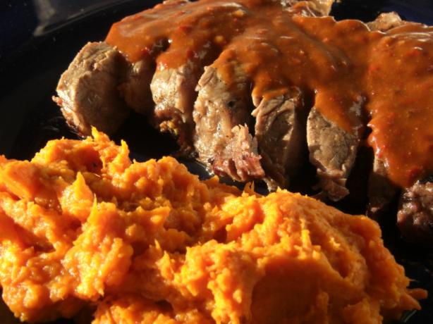 Mashed Chipotle Sweet Potatoes. Photo by puppitypup