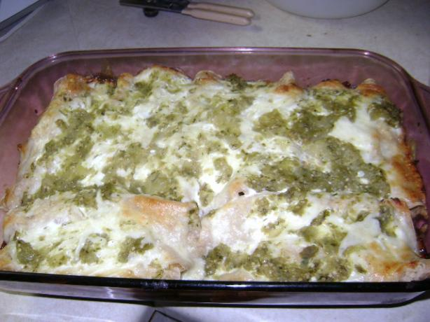 Chicken and Green Chile Enchiladas With Goat Cheese Cream Sauce. Photo by Ms. Poppy