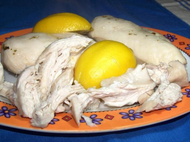 Poached Lemon Garlic Chicken. Photo by **Jubes**