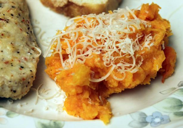 Parmesan Mashed Butternut Squash. Photo by SashasMommy