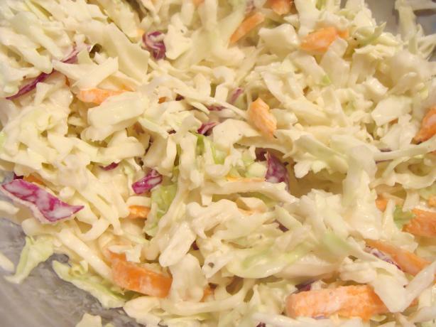 Easy Cole Slaw. Photo by Lvs2Cook