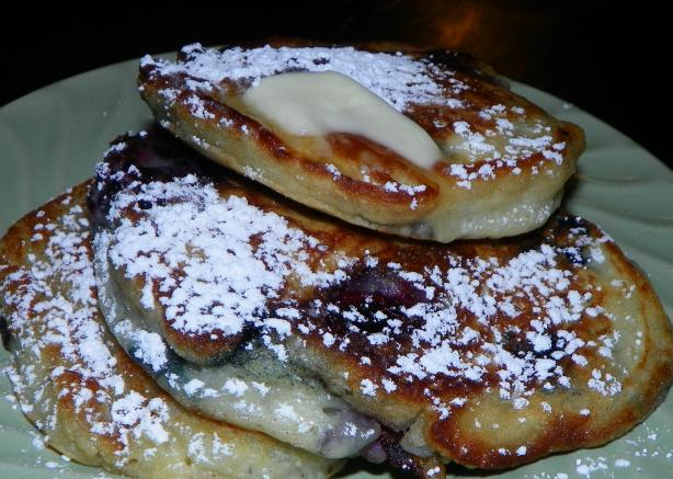 Blueberry Buttermilk Pancakes. Photo by Baby Kato