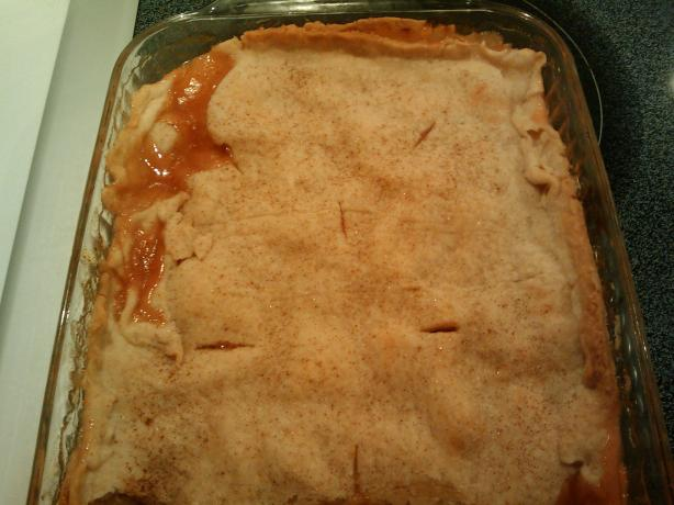 Grandpa Roy&#39;s Fresh Peach Cobbler. Photo by Capncrunch