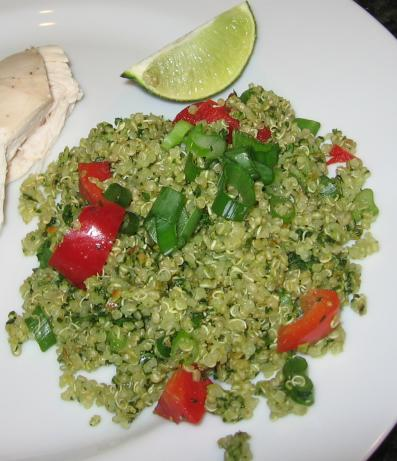 Mexican Quinoa With Pepita-Cilantro Sauce. Photo by Maito