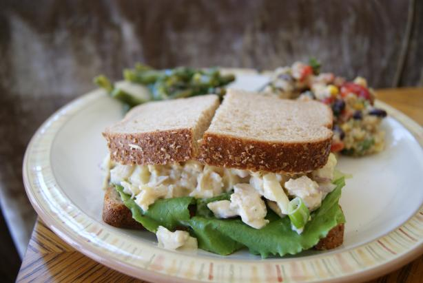 Crunchy Chicken Apple Salad Sandwiches. Photo by CaliforniaJan