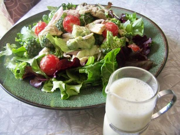 Super  Veggie Salad With Creamy Almond Dressing. Photo by Prose